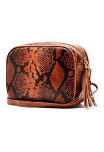 Bolsa Hendy Bag Couro Cobra Caramelo