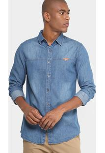 Camisa Jeans Broken Rules Masculina - Masculino
