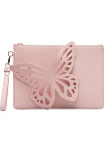 Sophia Webster Clutch Flossy Butterfly - Rosa