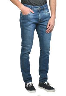 Calça Jeans Slim Básica Yck'S Azul