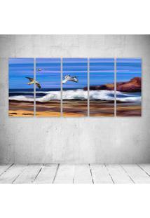 Quadro Decorativo - Ocean - Composto De 5 Quadros - Multicolorido - Dafiti