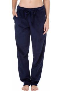 Calça Plush Homewear Marinho - 589.0719 Marcyn Lingerie Pijamas Azul