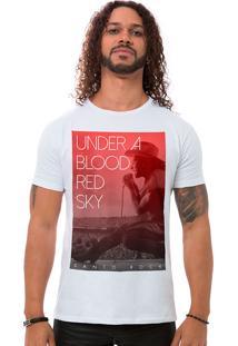 Camiseta Masculina Blood Red Sky Branco B