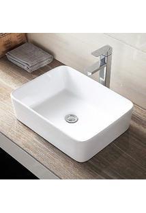 Cuba De Apoio Banheiro Lavabo Sobrepor Retangular De Porcelana Cerâmica Louça C274 - Premierdecor