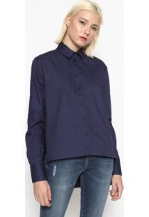 Camisa Com Fendas - Azul Escurocalvin Klein