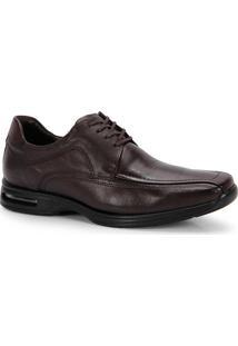Sapato Conforto Masculino Democrata Air Stretch Spot - Cafe