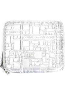 Comme Des Garçons Wallet Carteira Modelo 'Embossed Logo' - Cinza