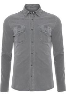 Camisa Masculina Army Pockets - Cinza