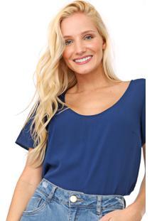 Blusa Hering Lisa Azul-Marinho