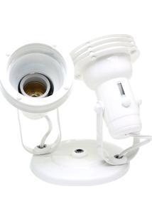 Spot Com Aro Branco Para 2 Lampadas - Ref: Mf:350/2