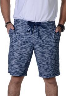 Bermuda Rajada Flamê Masculina Suffix Bolso Azul Praia