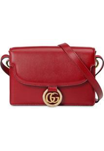Gucci Gg Ring Shoulder Bag - Vermelho