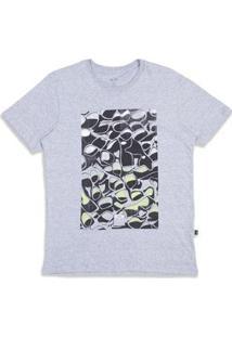 Camiseta Oakley Falling Glasses Tee Masculina - Masculino-Cinza