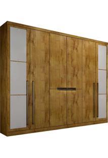 Guarda-Roupa Casal Com Espelho 8 Portas Otto-Novo Horizonte - Freijo Dourado