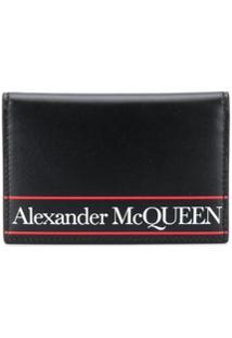 Alexander Mcqueen Carteira Com Estampa De Logo - Preto