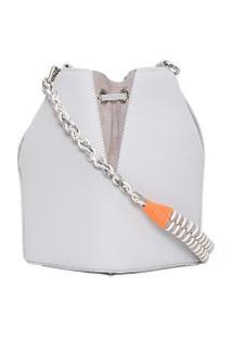 Bolsa Feminina Luna Bucket - Cinza