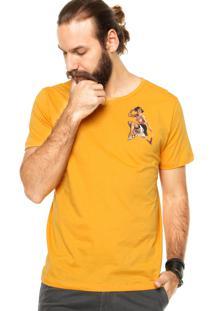 Camiseta Manga Curta Cavalera Pin Up Amarela