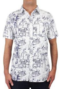Camisa Element Hallen Manga Curta - Masculino