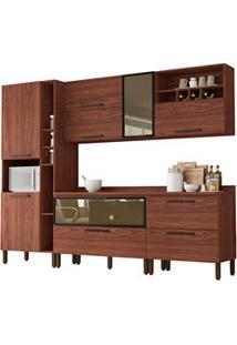 Cozinha Modulada 7 Peças Viv Concept C05 Nogueira - Kit´S Paraná