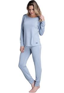 Pijama Longo Inspirate Basico Vintage - Feminino