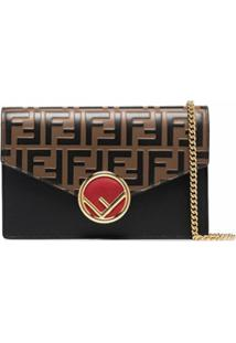 Fendi Mini Ff Envelope Crossbody Bag - Marrom