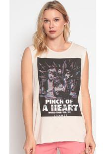 "Blusa ""A Heart""- Off White & Preta- Sommersommer"