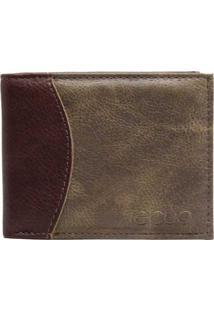 Carteira Em Couro Recuo Fashion Bag Chocolate Cinza