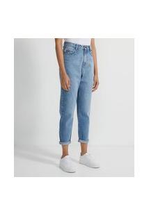 Calça Mom Em Jeans Básica