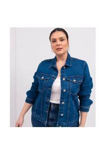Jaqueta Jeans Lisa Curve & Plus Size | Ashua Curve E Plus Size | Azul | Gg