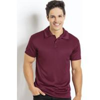 41678bb833 Camisa Manga Curta Bordô Gola Polo