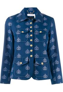 Chloé Logo Printed Jacket - Azul