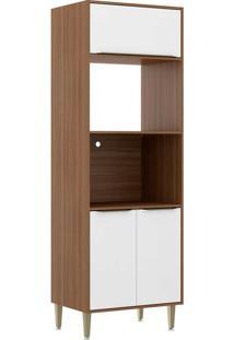 Armário De Cozinha 3 Portas 2 Lugar Para Forno 5404 Nogueira/Branco - Multimóveis