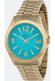 Kit Relógio Feminino Champion Cn25225Y Analógico 5Atm + Conjunto Semijóia
