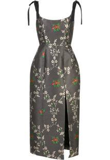 Markarian Vestido Com Estampa Floral - Preto