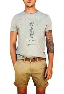 Camiseta Hang Loose - Masculino-Cinza