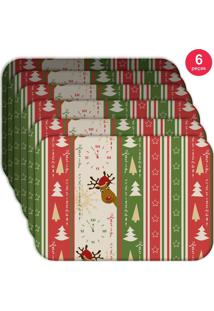 Jogo Americano Love Decor Wevans Merry Christmas Kit Com 6 Pçs