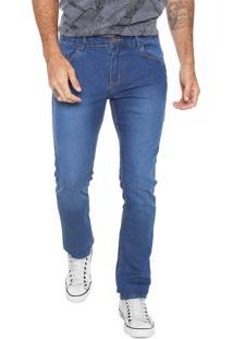 Calça Jeans Fiveblu Reta Estonada Azul