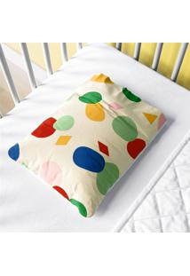 Fronha Bebê Colorido Geométrico Moderno Grão De Gente Multicolorido.
