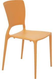 Cadeira Sofia- Laranja- 82,5X53X44,5Cm- Tramontitramontina