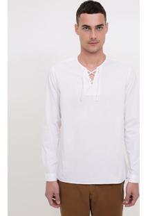 Camisa Comfort Com Amarração Em Voile