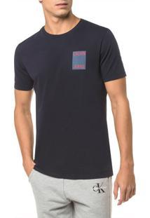 Camiseta Ckj Mc Est Calvin Jeans Peito - Marinho - Pp