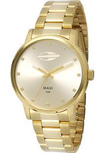 Relógio Mormaii Analógivo Mo2035Gn-4K Feminino - Feminino-Dourado