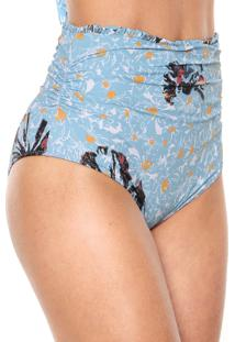 Calcinha Clube Bossa Hot Pant Fleur Azul