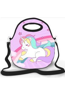 Bolsa Térmica Shop House Rainbow Unicorn Rosa
