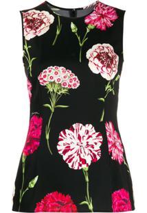 Dolce & Gabbana Regata Com Estampa Floral - Preto