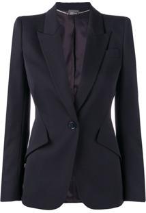 Alexander Mcqueen Structured Blazer Jacket - Azul