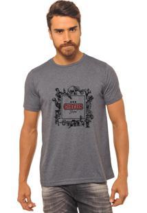 Camiseta Chumbo Estampada Masculina Joss - Circus Shutter