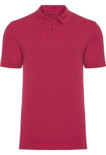 Polo Masculina Piquet Sharp - Vermelho