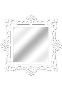 Espelho De Parede 14849B Branco 70X70 Art Shop
