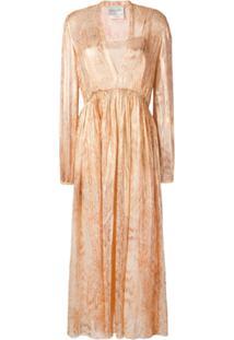 Forte Forte Snakeskin Print Layered Dress - Dourado